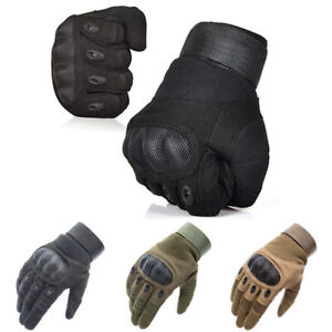 Tactical Hard Knuckle Gloves Army Military Commando Special Ops Combat Hunting