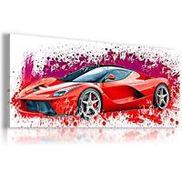 PAINTING FERRARI ENZO RED Car Wall Art PRINT Canvas Picture AU331 MATAGA