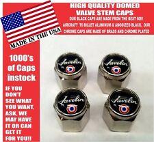 AMC Javelin American Motors Chrome Valve Stem Caps -Very Nice!