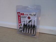 """TREND SNAPPY 5PCE DRILL & COUNTERSINK SET TCT WITH 1/4"""" HEX SHANK SNAP/CSTC/SET"""