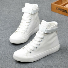 High Top Sneakers Canvas Shoes Women Casual Shoes White Flat Female Trainers