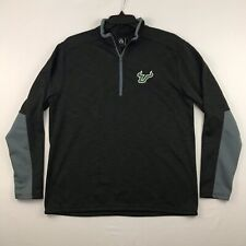 University of South Florida Usf Bulls Mens 1/4 Zip Pullover Size L Charcoal
