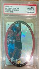 1996 Upper Deck SPx Record Breaker R1 Michael Jordan PSA 8 NM HOF