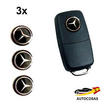 3 x Emblemas Logo Pegatinas 14 MM  para Mercedes Benz LLAVE MANDO KEY
