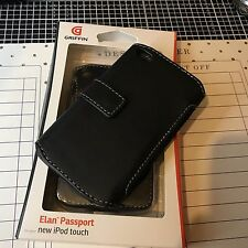 Genuine Griffin Leather Folio Protective Gym Running Book Case for Apple iPod 4