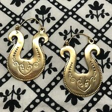 Tribal Horseshoe Hoop Hook Earrings