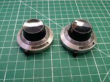 2 x Manopola Potenziometro duodial, quadrante conteggio Potenziometro Manopola, 0 - 14