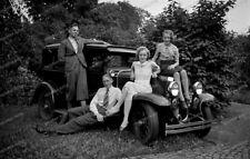 Negativ-PKW-Automobil-Familie-Männer-Frauen-Men-Women-1930er Jahre-