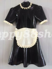 Latex Skirts Dress 100% Rubber Maid Woman Club Sexy Ruffle 2019 Style Size S-XXL