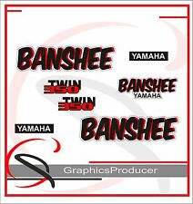Yamaha Banshee Decals 1988 White Model Graphic Reproduction Custom Full Set