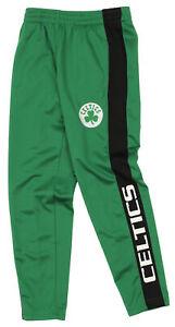 OuterStuff NBA Youth Boys Side Stripe Slim Fit Performance Pant, Boston Celtics