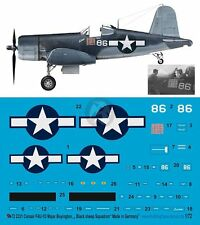 Peddinghaus 1/72 F4U-1D Corsair Markings Gregory Boyington Black Sheep Sq. 2331