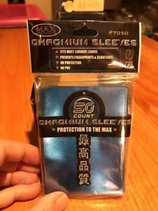 Max Protection Chromium Sleeves from Box   Blue  #7050    7050L CSB    NEW