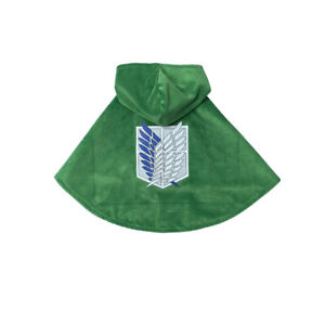 New Attack on Titan Cosplay Costumes Cat Dog Corps Clothes Cloak Pet Photo Prop