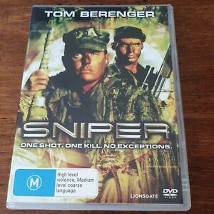 Sniper Tom Berenger  DVD R4 Like New! FREE POST