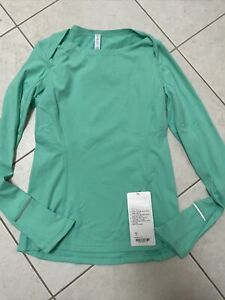 Lululemon Catch Me If You Can Long sleeve, Running, Size 8, Menthol Green, NEW!