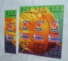 1994 Miami Heat, Nba Basketball Playoffs tickets, unused set of 4