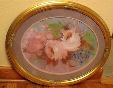 Peggy Peck Beautiful Pastel on Paper Flower Mid Century Modern around framing