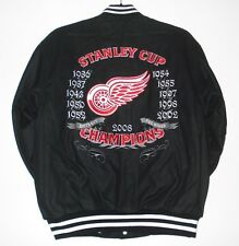 2XL NHL DETROIT RED WINGS Commemorative Wool Reversible Jacket JH DESIGN XXL