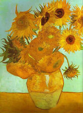 Hand painted Oil painting Vincent Van Gogh - Sunflowers still life in oil canvas