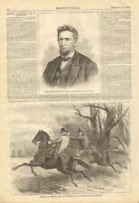 Civil War, Rebel Guerrilla, Murders Senator Case, Tennessee, 1867 Antique Print,