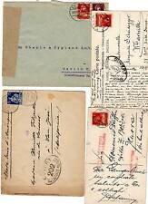 1917/19 4 SWITZERLAND CENSORED MAILS >UK USA ITALY etc