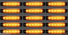 15 pièces X 12V 6 LED marquage latéral ambré FEUX pour camion Mercedes iveco