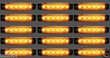 15 pièce X 12V 6 LED marquage latéral orange ambré CLIGNOTANTS feux