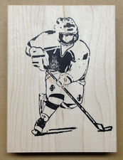 Wood Mounted Rubber Stamps, Sports Stamps, Hockey Player, Skater, Ice Hockey