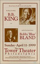 B B KING BOBBY BLUE BLAND Original Philadelphia Concert Poster Signed  B.B. BB