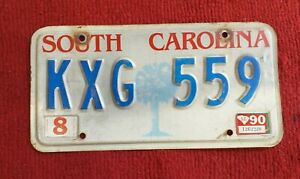 SOUTH CAROLINA AMERICAN LICENSE PLATE GENUINE VINTAGE U.S LICENCE PLATE