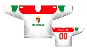Team Hungary 2020 WHITE Ice Hockey Jersey Custom Name and Number
