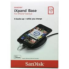 SanDisk iXpand Base 128GB iPhone Charger and Backup Black SDIB20N-128G-AN9AE