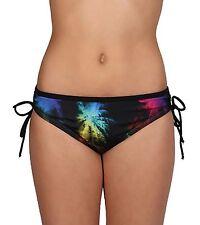 NWT Speedo Pixel Palm Adjustable Side Tie Bikini Swim Bathing Suit bottom M