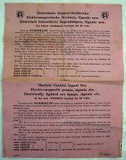 Historisches Werbeblatt Prospekt MÄRKLIN 1927  Ausstellungsstücke 20 Volt