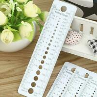 Plastic Knitting Knit Needle Size Gauge Ruler Measure Tools Sewing Tool Rul F3I4