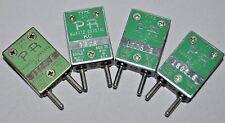 Lot of 4 PR Quartz Crystal Type Z-1 Petersen Radio Co Ham Civil Defense Case