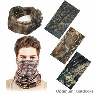 Realtree Real Tree Leaf Camouflage Camo Snood Scarf Face Mask Head Cover Hat UK
