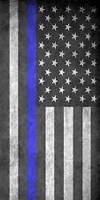 Police Flag Blue Line Laminated Cornhole Wrap Bag Toss Skin Decal Sticker