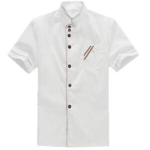 Chefs Jacket Unisex Short Sleeves Kitchen Catering Uniform SG