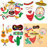 Mexican Fiesta Photo Booth Props Kits,20 PC Party Decorations For Summer Parties