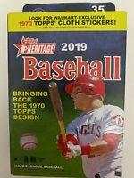 2019 Topps HERITAGE Baseball - Hanger Box - 35 Trading Cards - 1970 Design Cards