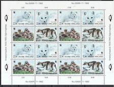 Finnland 1993 postfrisch Bogen MiNr. 1202-1205  Polarfuchs WWF