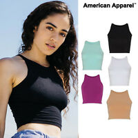 American Apparel Women's Crop Top (8369) - Sleeveless Fitted stylish summer top