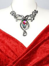 Ladies Gothic Necklace Alchemy using Swarovski Crystal element Pendant Jewellery