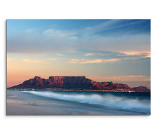 120x80cm Leinwandbild auf Keilrahmen Afrika Kapstadt Strand Meer Gebirge