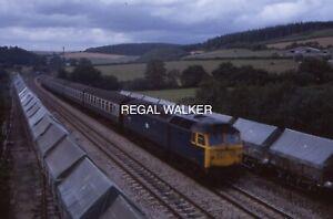 ORIGINAL 35MM SLIDE BRITISH RAIL BR CLASS 47 - 47459 AT LOSTWITHIEL C1985