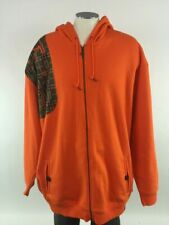 Nike Air Force 1 Orange Camo Hoodie Sweatshirt 4XL Blue Ribbon Hip Hop NWT