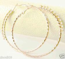 HOT New  9k Gold Filled Fashion Stylish Lady Ear Stud Hoop Earring 482