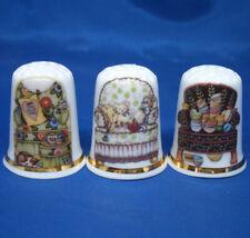 Birchcroft China Thimbles -- Set of Three -- Old Armchairs